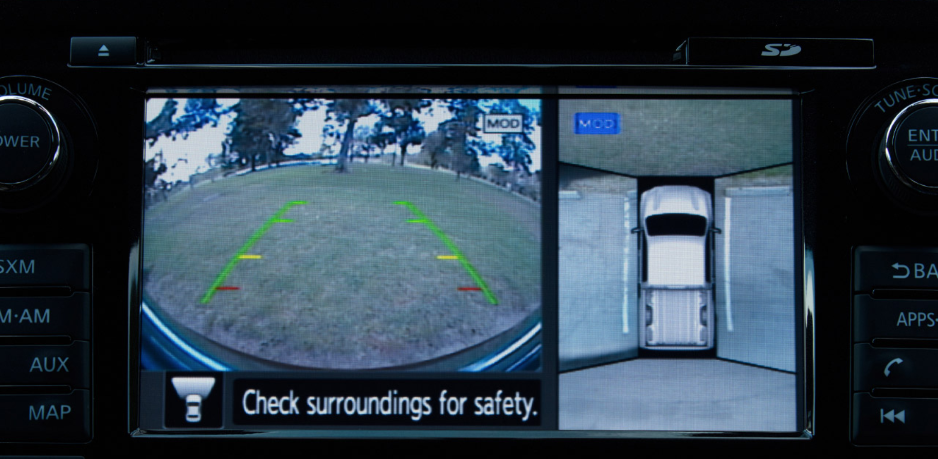 Rearview Camera in the Nissan Titan